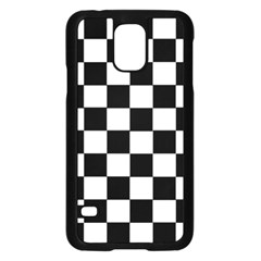 Grid Domino Bank And Black Samsung Galaxy S5 Case (black) by Nexatart