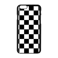 Grid Domino Bank And Black Apple Iphone 6/6s Black Enamel Case by Nexatart