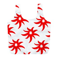 Star Figure Form Pattern Structure Full Print Recycle Bags (l)  by Nexatart