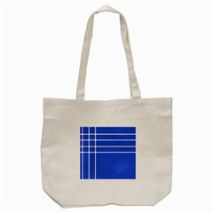 Stripes Pattern Template Texture Blue Tote Bag (cream) by Nexatart