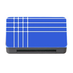 Stripes Pattern Template Texture Blue Memory Card Reader With Cf by Nexatart