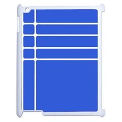 Stripes Pattern Template Texture Blue Apple Ipad 2 Case (white) by Nexatart