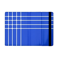 Stripes Pattern Template Texture Blue Ipad Mini 2 Flip Cases by Nexatart