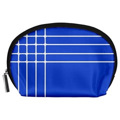 Stripes Pattern Template Texture Blue Accessory Pouches (large)