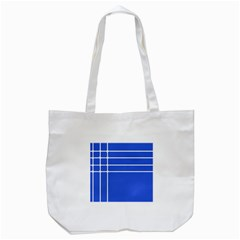 Stripes Pattern Template Texture Blue Tote Bag (white) by Nexatart