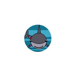 Shark Sea Fish Animal Ocean 1  Mini Buttons by Nexatart
