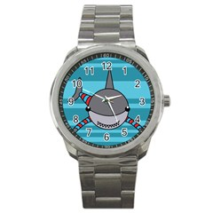 Shark Sea Fish Animal Ocean Sport Metal Watch by Nexatart