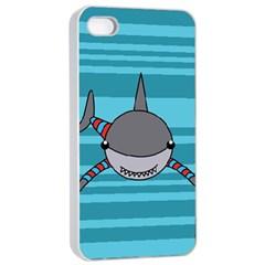 Shark Sea Fish Animal Ocean Apple Iphone 4/4s Seamless Case (white) by Nexatart