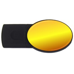 Gradient Orange Heat Usb Flash Drive Oval (4 Gb) by Nexatart