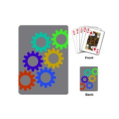 Gear Transmission Options Settings Playing Cards (mini)  by Nexatart