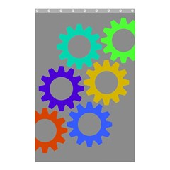 Gear Transmission Options Settings Shower Curtain 48  X 72  (small)  by Nexatart