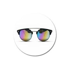 Sunglasses Shades Eyewear Magnet 3  (round) by Nexatart