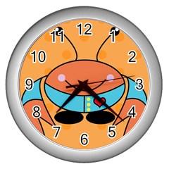 Crab Sea Ocean Animal Design Wall Clocks (silver)  by Nexatart
