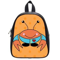 Crab Sea Ocean Animal Design School Bag (small) by Nexatart