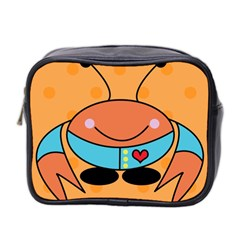 Crab Sea Ocean Animal Design Mini Toiletries Bag 2 Side by Nexatart