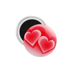 Heart Love Romantic Art Abstract 1 75  Magnets by Nexatart