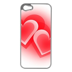 Heart Love Romantic Art Abstract Apple Iphone 5 Case (silver)