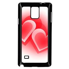 Heart Love Romantic Art Abstract Samsung Galaxy Note 4 Case (black) by Nexatart