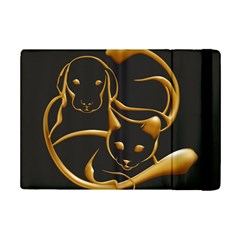 Gold Dog Cat Animal Jewel Dor¨| Ipad Mini 2 Flip Cases by Nexatart