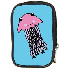Jellyfish Cute Illustration Cartoon Compact Camera Cases by Nexatart
