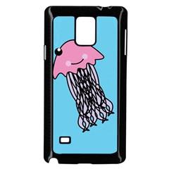 Jellyfish Cute Illustration Cartoon Samsung Galaxy Note 4 Case (black) by Nexatart