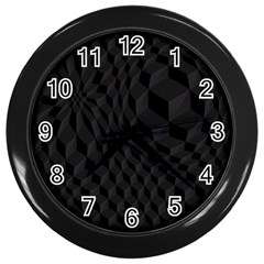 Pattern Dark Black Texture Background Wall Clocks (black) by Nexatart