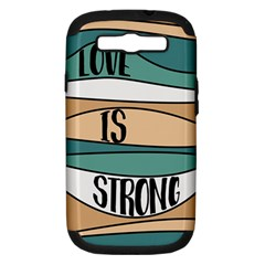 Love Sign Romantic Abstract Samsung Galaxy S Iii Hardshell Case (pc+silicone) by Nexatart