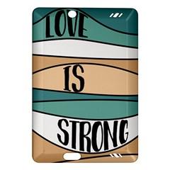 Love Sign Romantic Abstract Amazon Kindle Fire Hd (2013) Hardshell Case by Nexatart