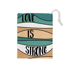 Love Sign Romantic Abstract Drawstring Pouches (medium)  by Nexatart