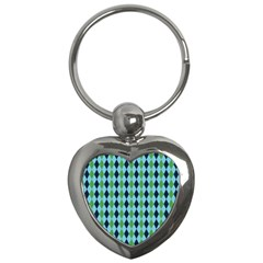 Rockabilly Retro Vintage Pin Up Key Chains (heart)  by Nexatart