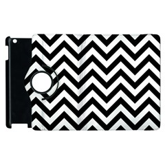 Wave Background Fashion Apple Ipad 3/4 Flip 360 Case by Nexatart