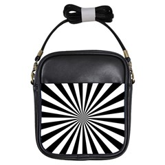 Rays Stripes Ray Laser Background Girls Sling Bags by Nexatart