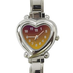 Course Colorful Pattern Abstract Heart Italian Charm Watch by Nexatart