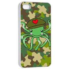 Octopus Army Ocean Marine Sea Apple Iphone 4/4s Seamless Case (white) by Nexatart