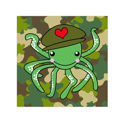 Octopus Army Ocean Marine Sea Small Satin Scarf (square) by Nexatart
