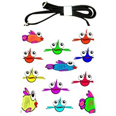 Fish Swim Cartoon Funny Cute Shoulder Sling Bags by Nexatart