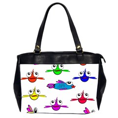 Fish Swim Cartoon Funny Cute Office Handbags (2 Sides)  by Nexatart