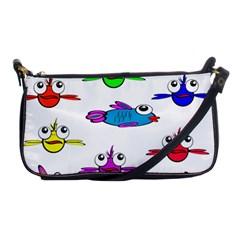 Fish Swim Cartoon Funny Cute Shoulder Clutch Bags by Nexatart