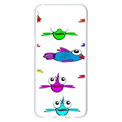 Fish Swim Cartoon Funny Cute Samsung Galaxy S8 Plus White Seamless Case by Nexatart