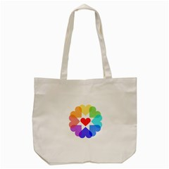 Heart Love Romance Romantic Tote Bag (cream) by Nexatart