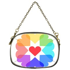 Heart Love Romance Romantic Chain Purses (one Side)  by Nexatart