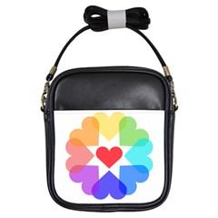 Heart Love Romance Romantic Girls Sling Bags by Nexatart