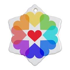 Heart Love Romance Romantic Ornament (snowflake) by Nexatart