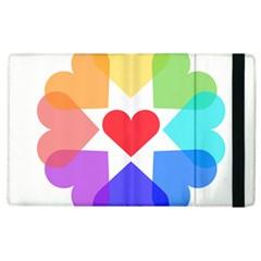 Heart Love Romance Romantic Apple Ipad 2 Flip Case by Nexatart