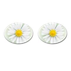 Art Daisy Flower Art Flower Deco Cufflinks (oval) by Nexatart