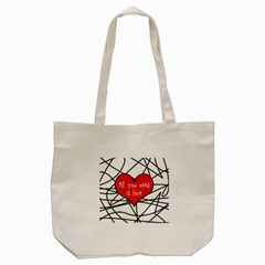 Love Abstract Heart Romance Shape Tote Bag (cream) by Nexatart