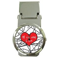 Love Abstract Heart Romance Shape Money Clip Watches by Nexatart