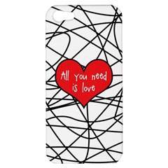 Love Abstract Heart Romance Shape Apple Iphone 5 Hardshell Case by Nexatart