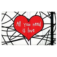 Love Abstract Heart Romance Shape Apple Ipad 2 Flip Case by Nexatart