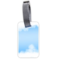 Sky Cloud Blue Texture Luggage Tags (one Side)  by Nexatart